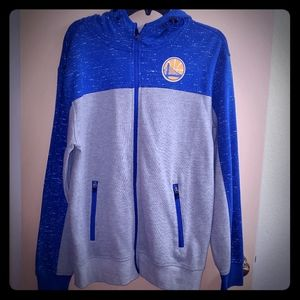 Men's NBA Golden State Warriors Zip Up Hoodie Med
